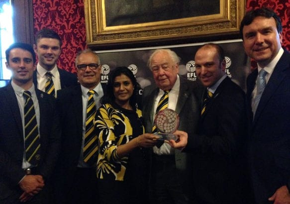 BACT Award in House of Parliament from EFL