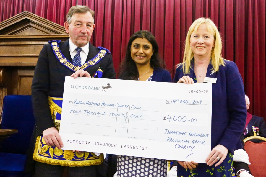 Thank you to Derbyshire Freemason's Community